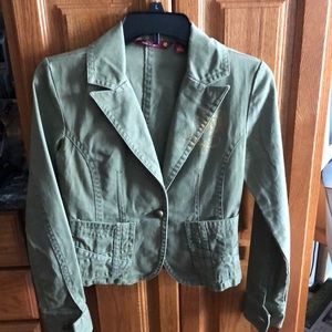 Cute Army Green Jacket, no flaws or stains